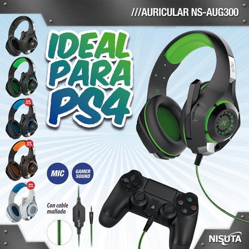 auriculares gamer con microfono para ps4 fortnite verde