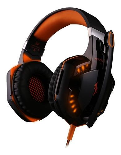 auriculares gamer kotion each g2000 con luz gaming micrófono pc notebook adaptador mini plug para ps4 tablet celular