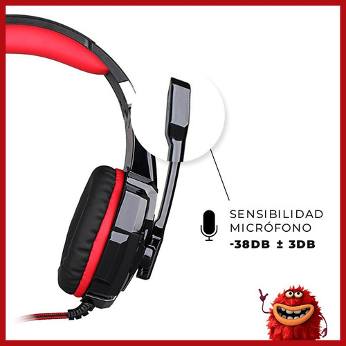 auriculares gamer microfóno juegos usb pc ps4 headset