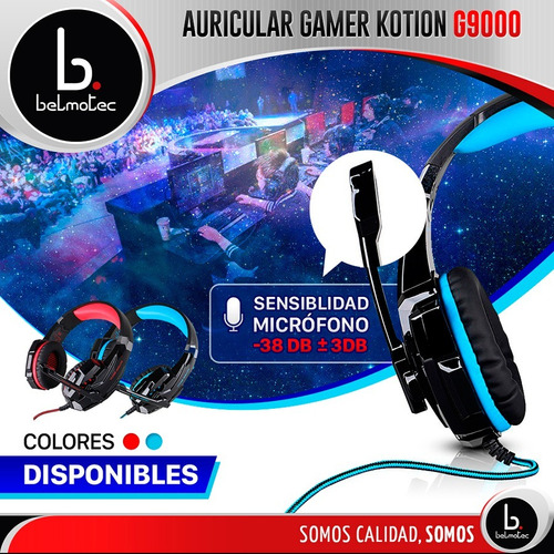 auriculares gamer microfono usb ps4 pc juegos 7.1 headset