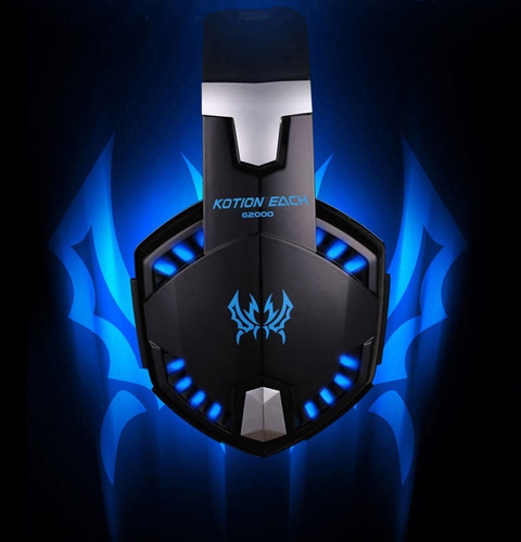 auriculares gamer pc 7.1 usb led extra graves bass