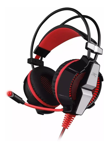 auriculares gamer pc headset sentey laxer 7.1 vibracion led