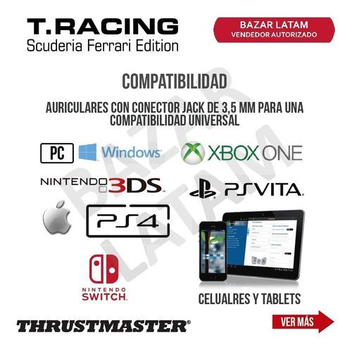 auriculares gaming headset ferrari thrustmaster pc ps4 xbox
