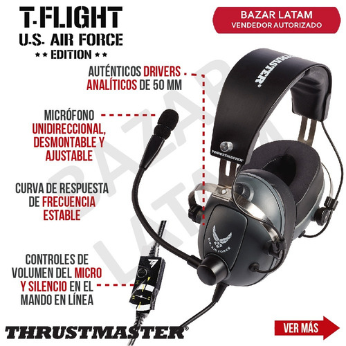 auriculares gaming t flight headset thrustmaster pc ps4 xbox