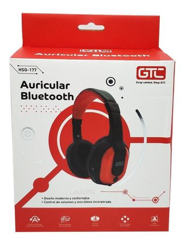 auriculares gtc hsg-177 con micrófono bluetooth o cable
