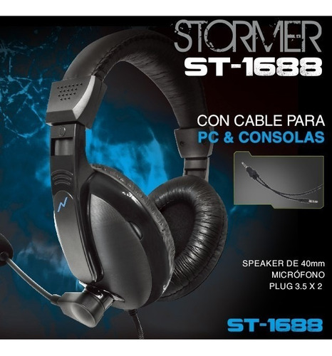 auriculares headset gamer noga st-1688 pc consola xbox ps4
