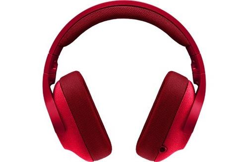 auriculares headset logitech g433 gamer rojos sonido7.1