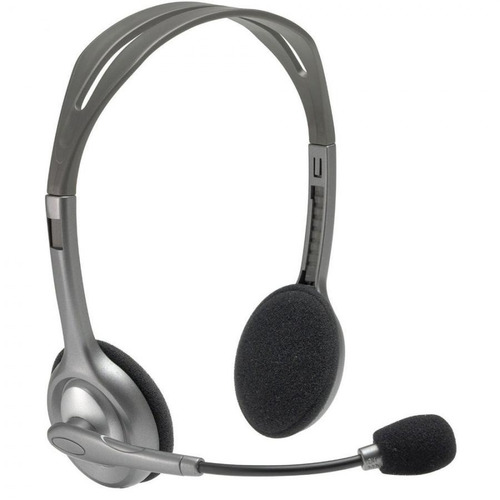 auriculares headset logitech h110 conexión doble plug 3,5 mm