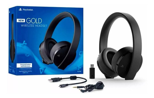 auriculares headset new gold wireless sony ps4 envío grátis