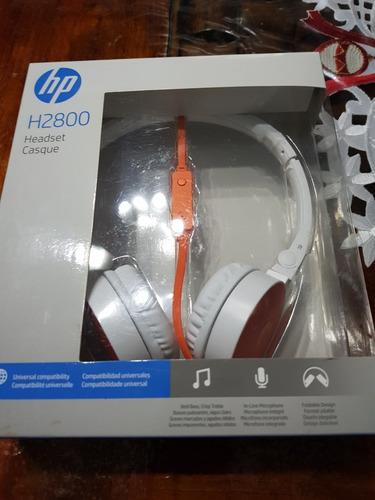 auriculares hp h2800 headset con micrófono.