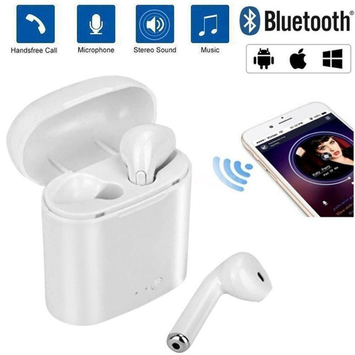 auriculares in-ear mini wireless white p/mayoría smartphones