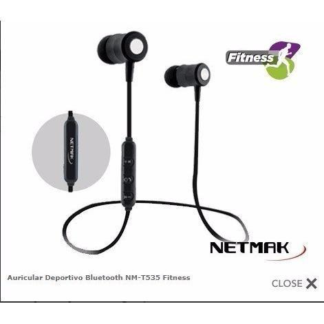 auriculares in-ear netmark nm-e09 fitness bluetooth