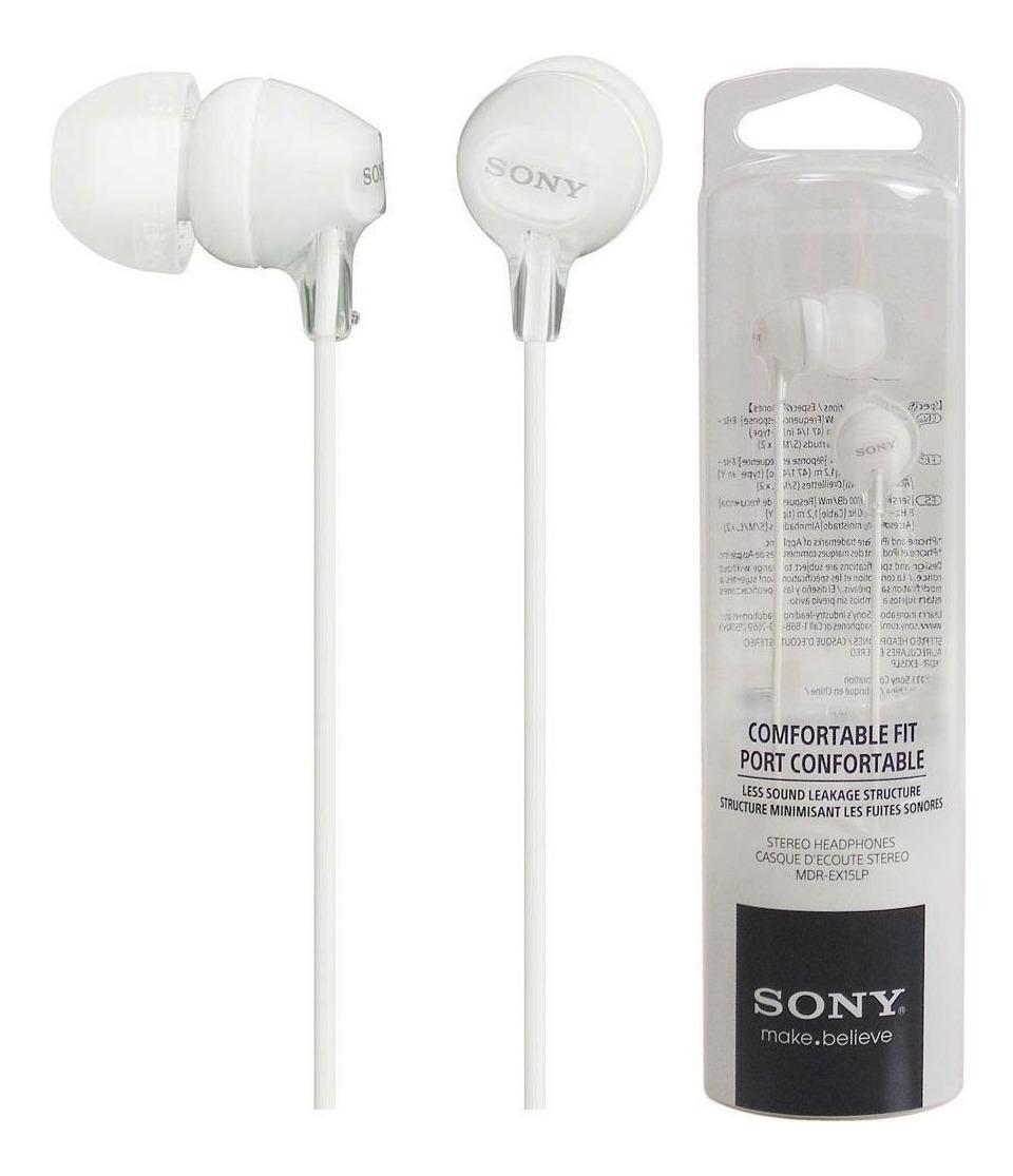 Auriculares Sony EX Series MDR-EX15LP blanco