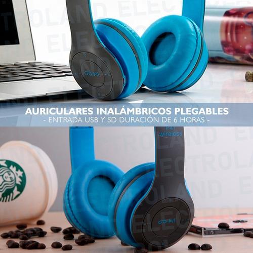 auriculares inalambrico plegables  sd manos libres vincha bt