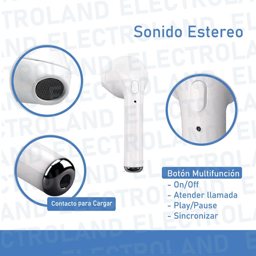 auriculares inalambricos bluetooth i7s tws iphone android