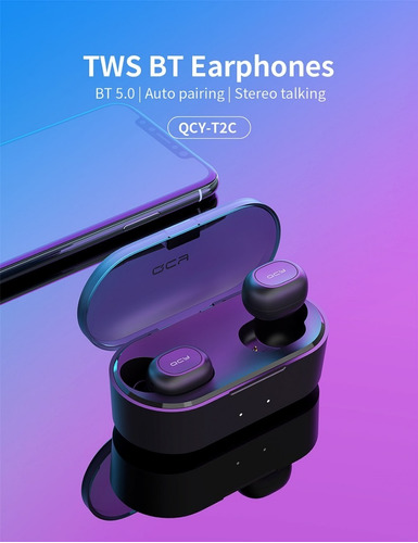 auriculares inalambricos bluetooth qcy t2 c samsung motorola