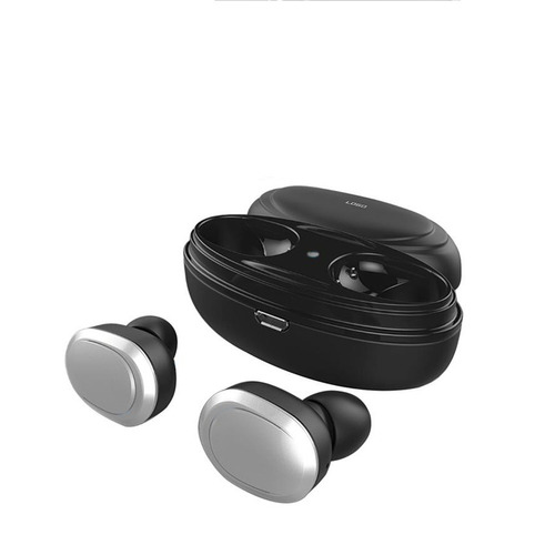 auriculares inalambricos bluetooth t12 plateados