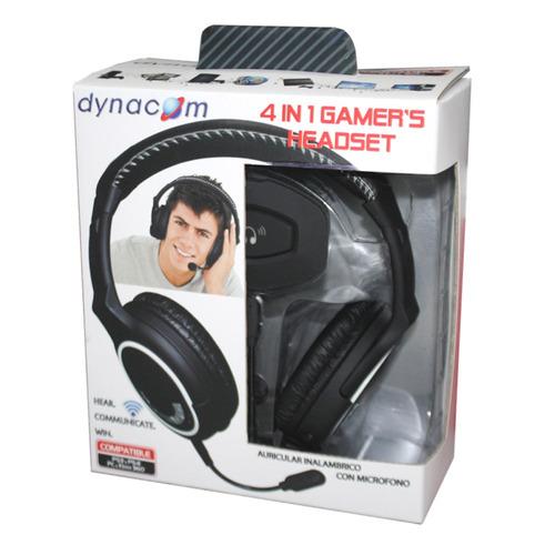 auriculares inalambricos con microfono dynacom