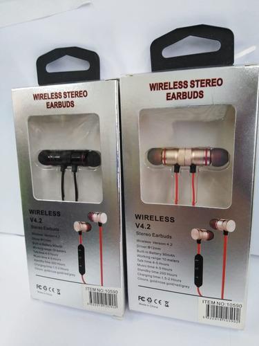 auriculares inalambricos estereo bluetooth 4.2 cod 10590*