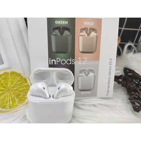Auriculares Inpods I12 Bluetooth Colores Metalizados