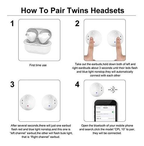 auriculares intrauditivos inalámbricos con estuche de carga