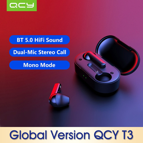 auriculares intraurales xiaomi qcy t3 bt 5.0 inal?mbricos