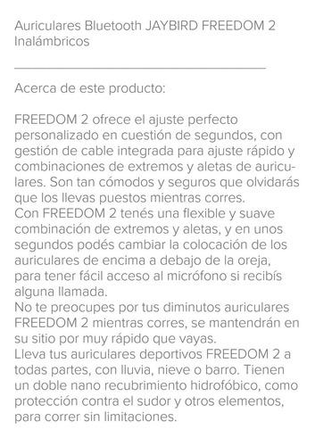 auriculares jaybird freedom 2 deportivos. ambos colores