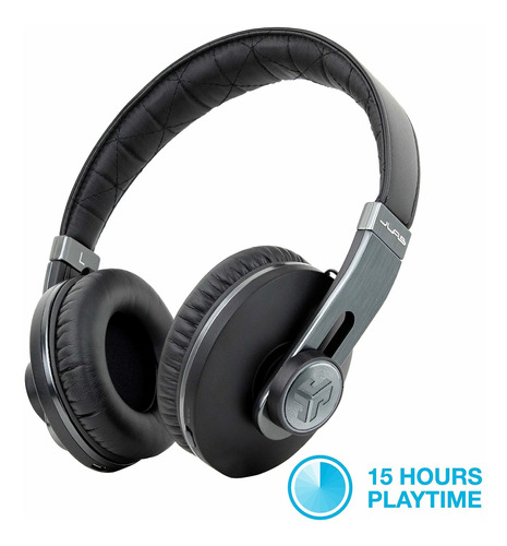 auriculares jlab audio omni premium folding bluetooth inalambrico over-ear con mic & carrying case - negro pearl