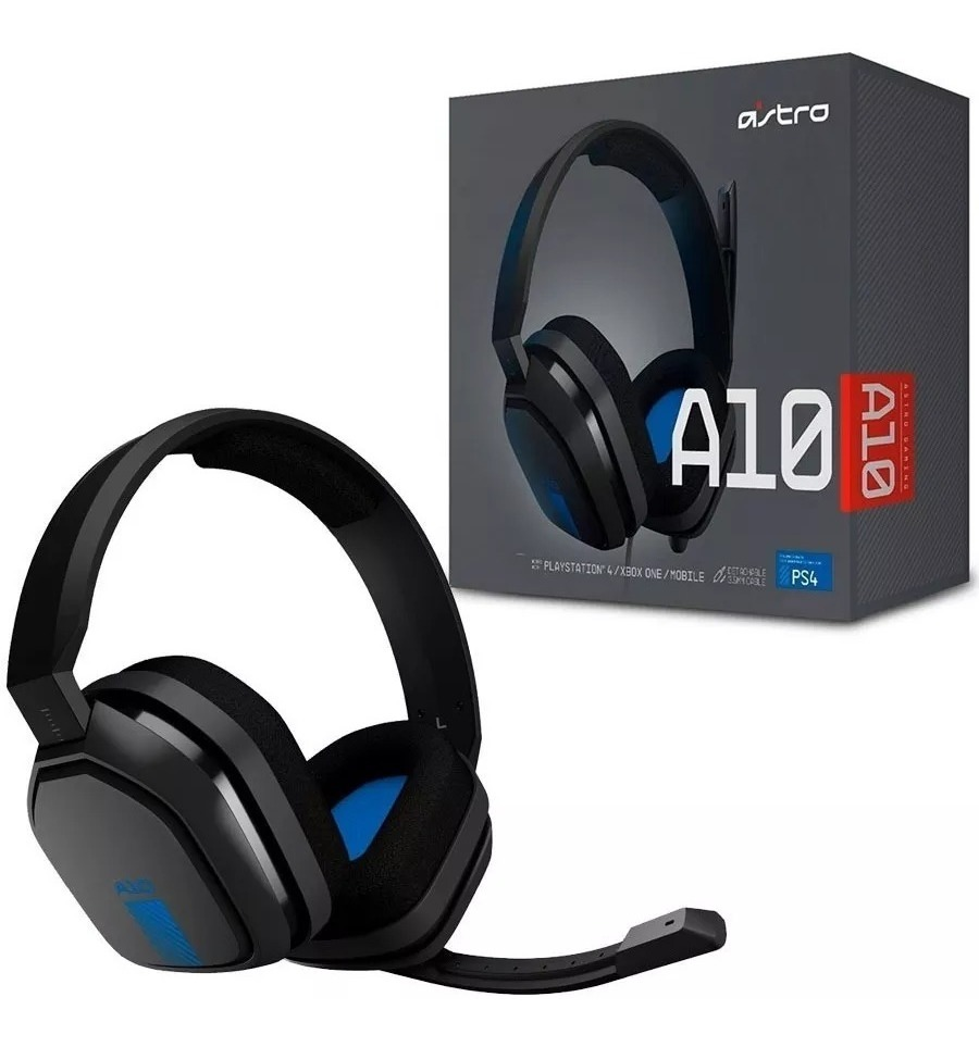 AURICULARES LOGITECH ASTRO A10 HEADSET GAMING C/ MICROFONO PS4 XBOX MOBILE