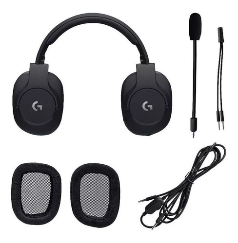 auriculares logitech g pro wired gaming pc ps4 xbox c/ mic