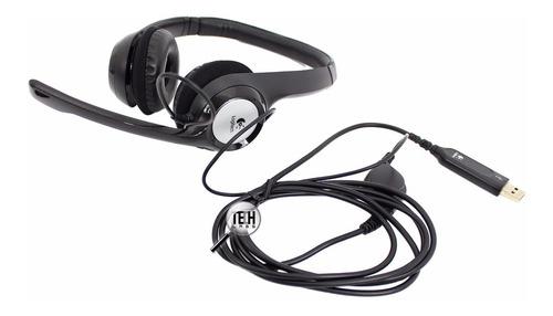 auriculares logitech h390 con microfono y contr. volumen usb