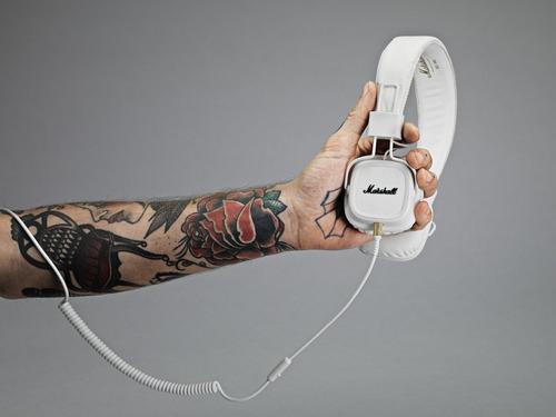 auriculares marshall major ii on-ear headphones, white