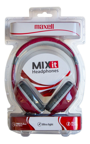 auriculares maxell micrófono mix it colores plug 3.5mm mic