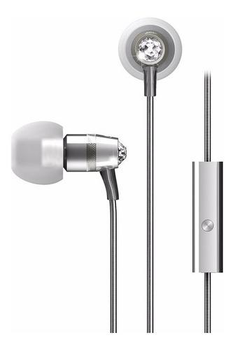 auriculares mee audio crystal swarovski silver y micrófono