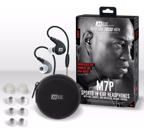 auriculares mee audio m7p bl deportivos con microfono sports
