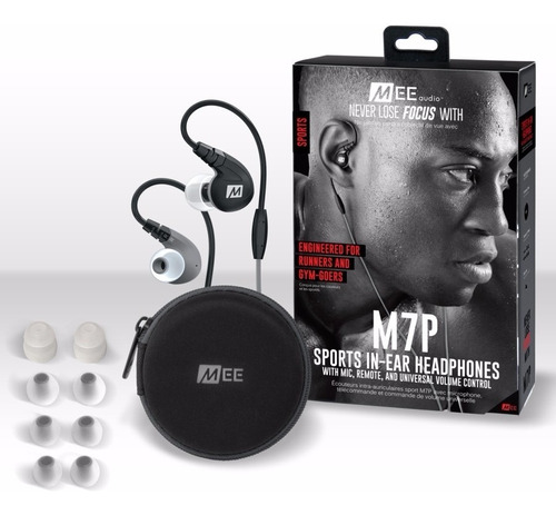 auriculares mee audio m7p rd deportivos con microfono sports