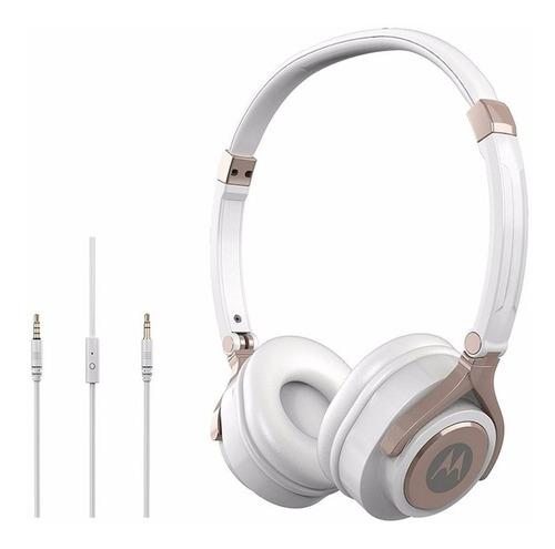 auriculares motorola pulse 2 vincha c/microfono blanco/negro