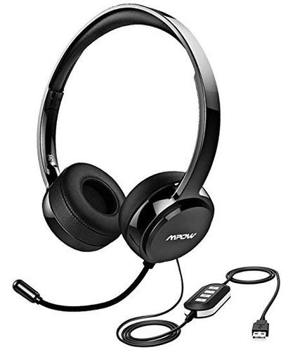 auriculares mpow usb con micrófono cancelación de ruido, lig