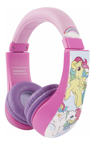 auriculares niños limitador de vol. my little pony