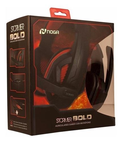auriculares noga net st-bold vincha c/adaptador ps4 gamer