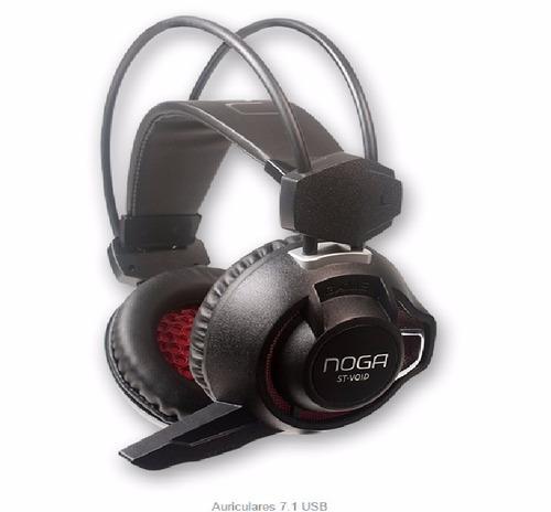 auriculares noga stormer void- sonido 7.1- microfono-luz led