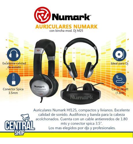 auriculares numark - exelente sonido - dj - central shop