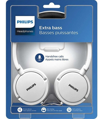 auriculares on ear philips con microfono shl5005wt/00