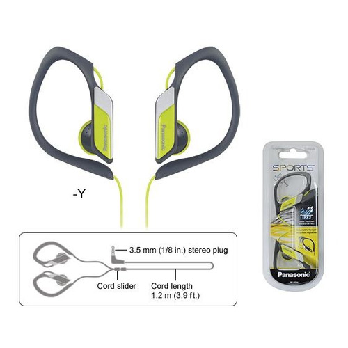 auriculares panasonic hs34pp amarillo deportivo