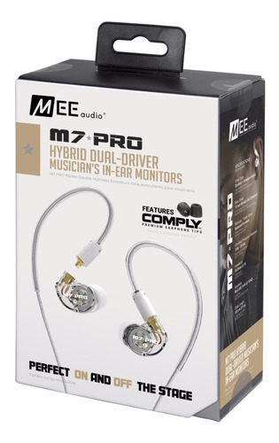 auriculares para monitoreo intraural in ear mee audio m7pro