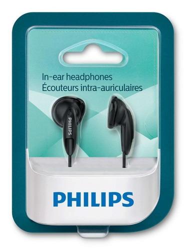 auriculares philips negros she1350 graves potenciados