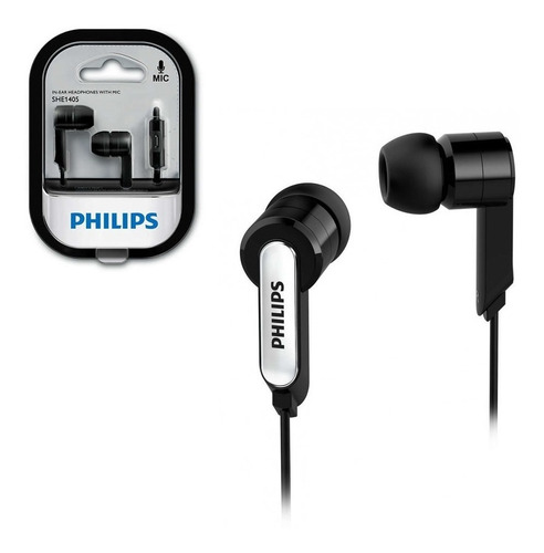 auriculares philips she1405 in ear manos libres