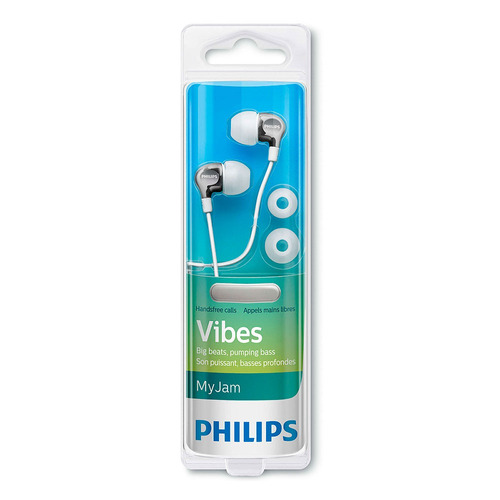 auriculares philips she3705wt/00 blanco