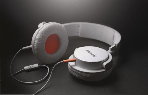 auriculares philips shl3105wt c/mic dj neodimio 40 plug 3.5