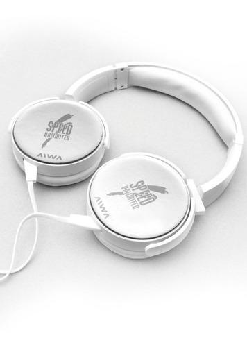 auriculares plegables blanco/negro speed unlimited aiwa